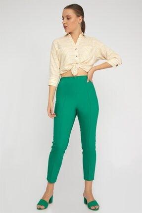 Chima Nervürlü Streç Pantolon