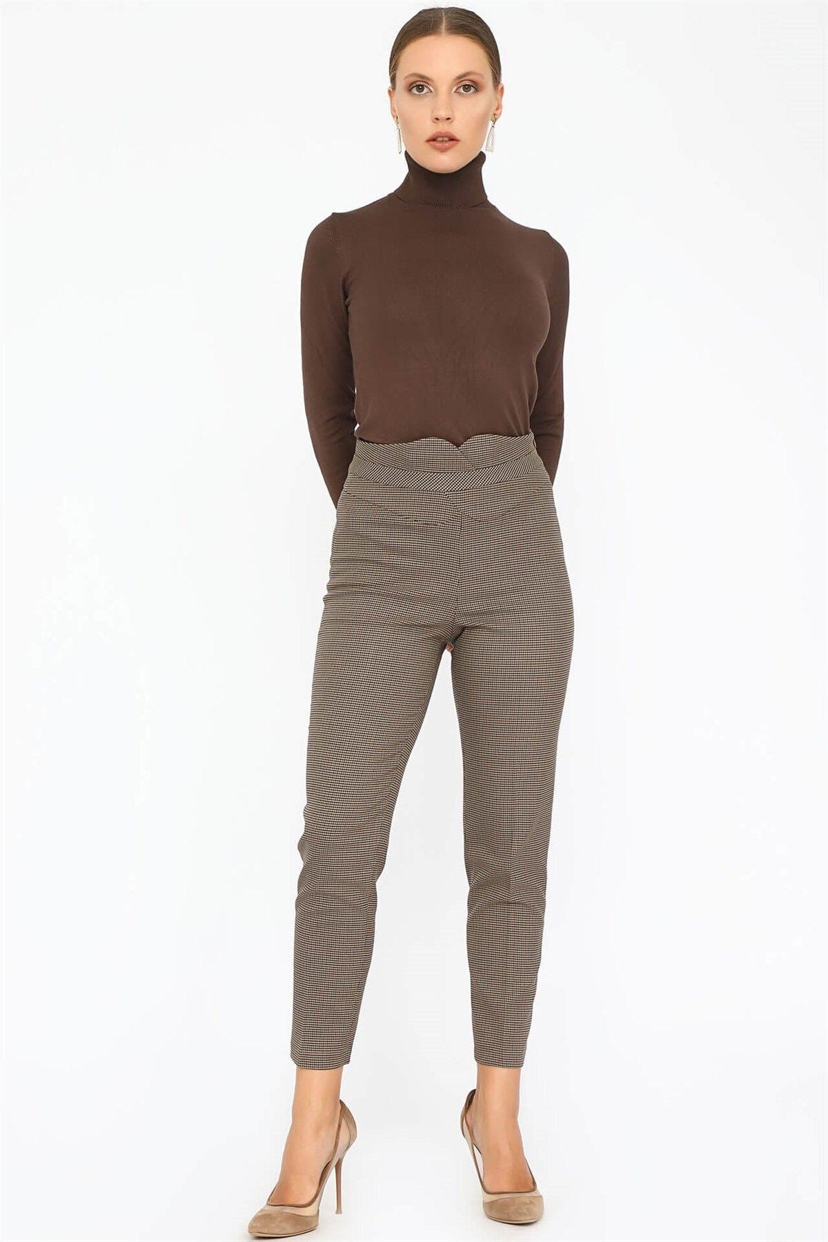 Chima Kadın Vizon Kemeri Detaylı Pantolon K20PA047 2