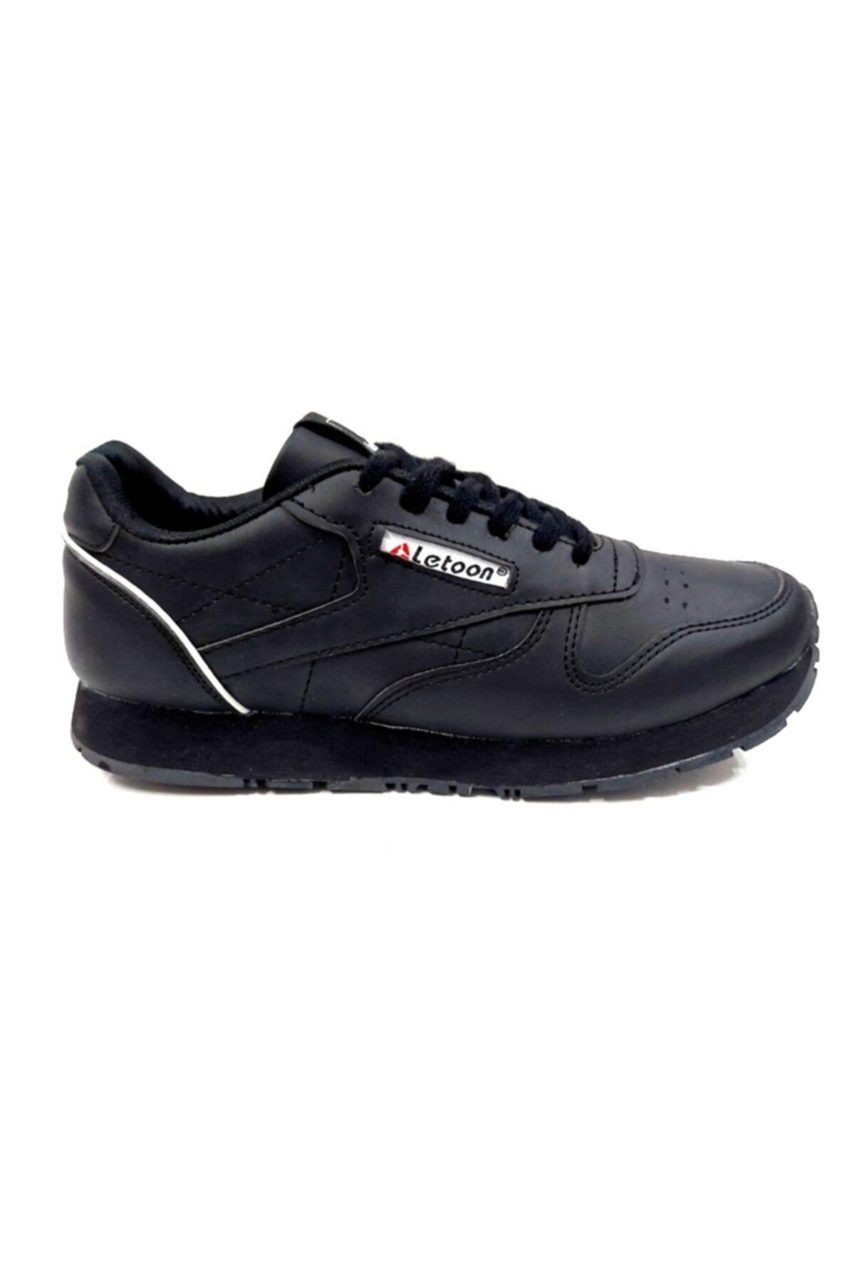 LETOON Erkek Siyah Comfort Spor Ayakkabı 1