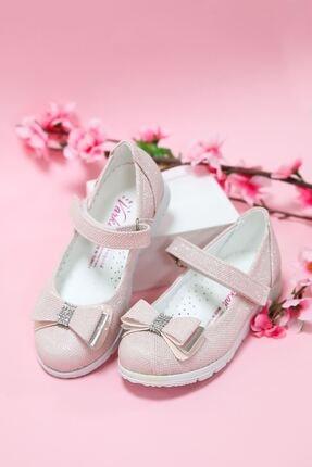 epaavm Kız Çocuk Pembe Simli Ayakkabı