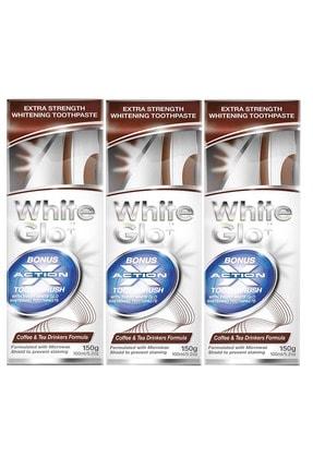 White Glo Çay -Kahve İçenlere Beyazlatıcı Diş Macunu Avantaj Paket X 3 Adet