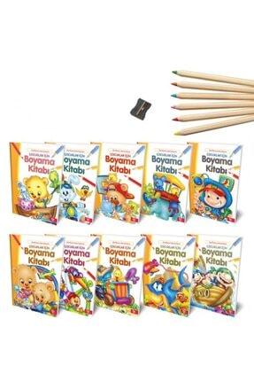 Halk Kitabevi Boyama Kitap Seti Boya Kalemi
