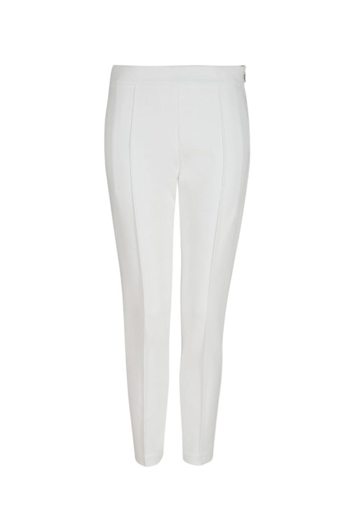 Chima Kadın Beyaz Yandan Fermuarlı Pantolon 2