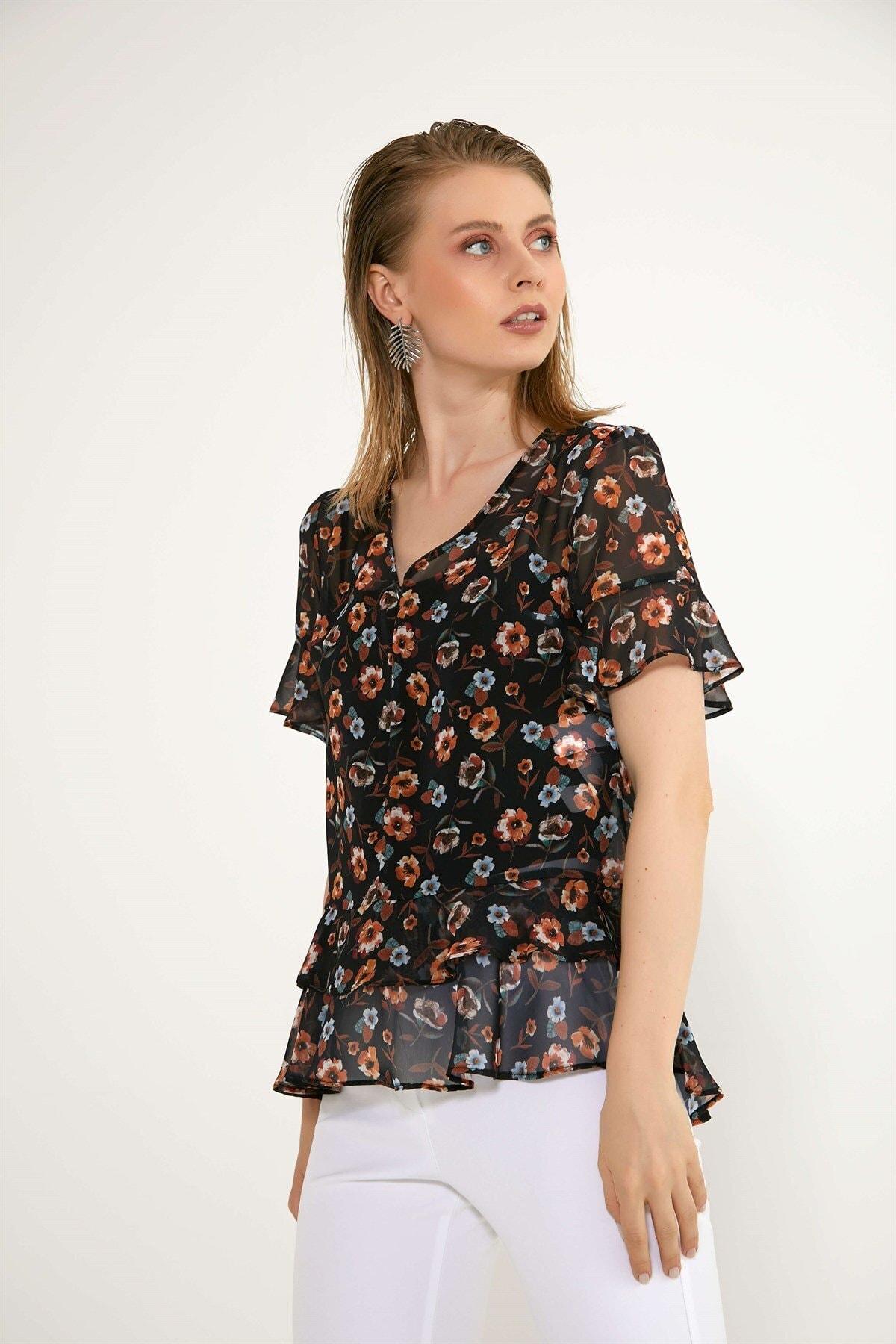 Chima Eteği Volanlı Bluz 2