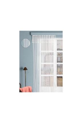 English Home Mini Dots Örme Farbelalı Tül Perde 285*265 Ekru