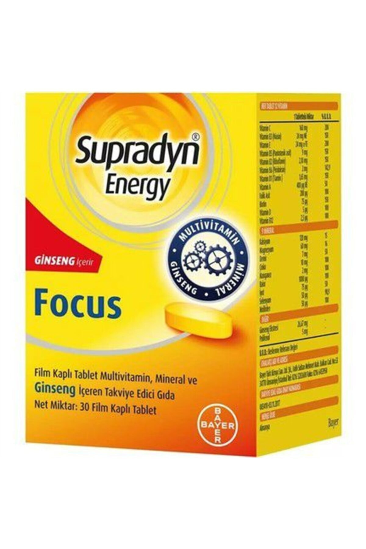 tekyerdenal Supradyn Energy Focus 30 Tablet 1