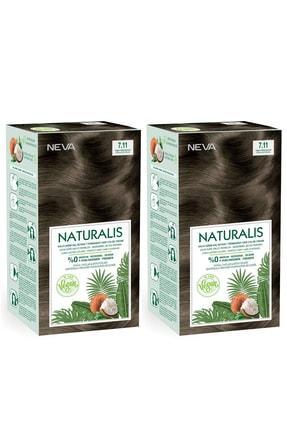 NEVA KOZMETİK Naturalis Saç Boyası 7.11 Yoğun Küllü Kumral %100 Vegan 2'li Set
