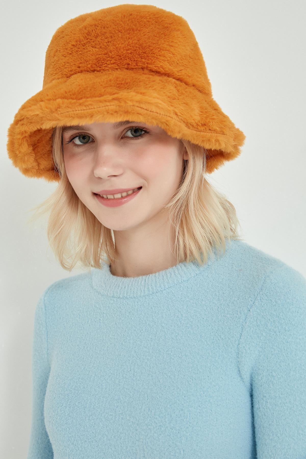 Y-London 12839-1 Safran Renk Bucket Şapka 1
