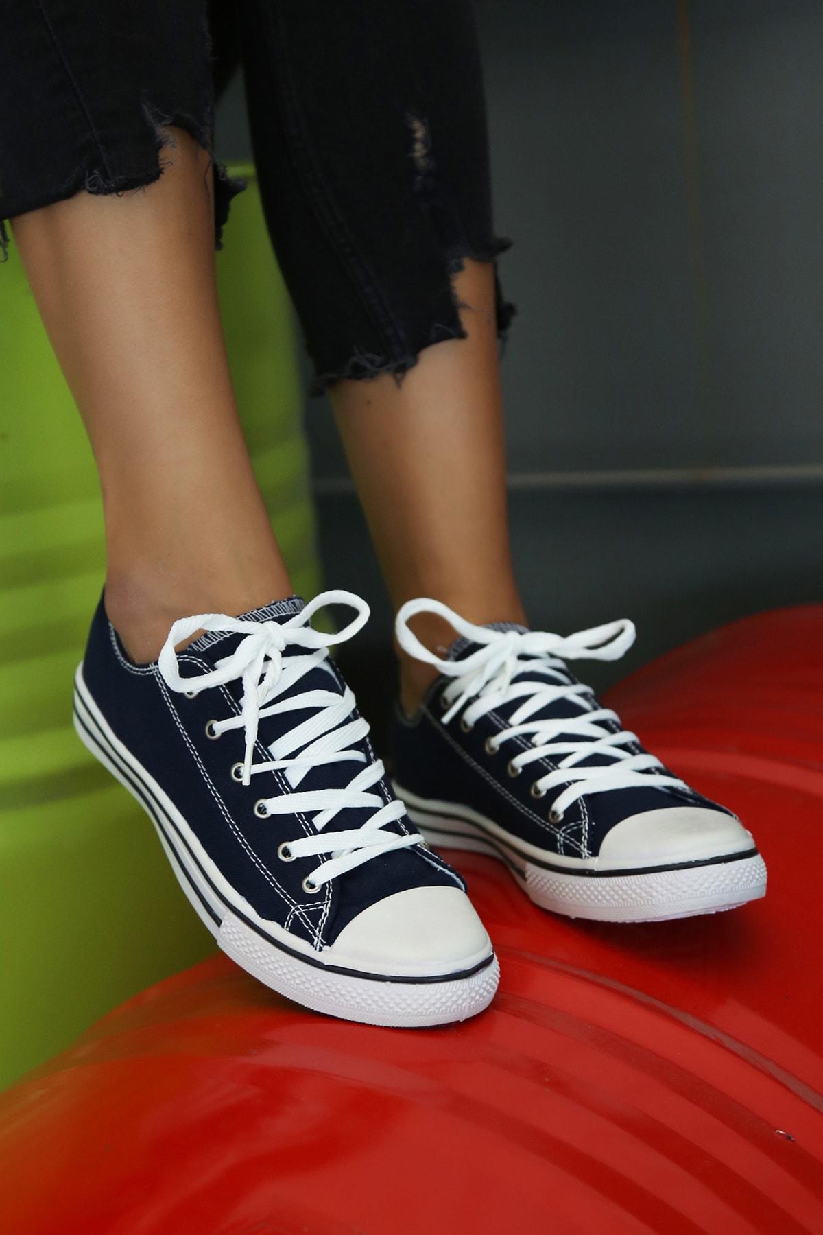 Ayakkabı Modası Kadın Lacivert Ayakkabı M9999-19-100165R 1