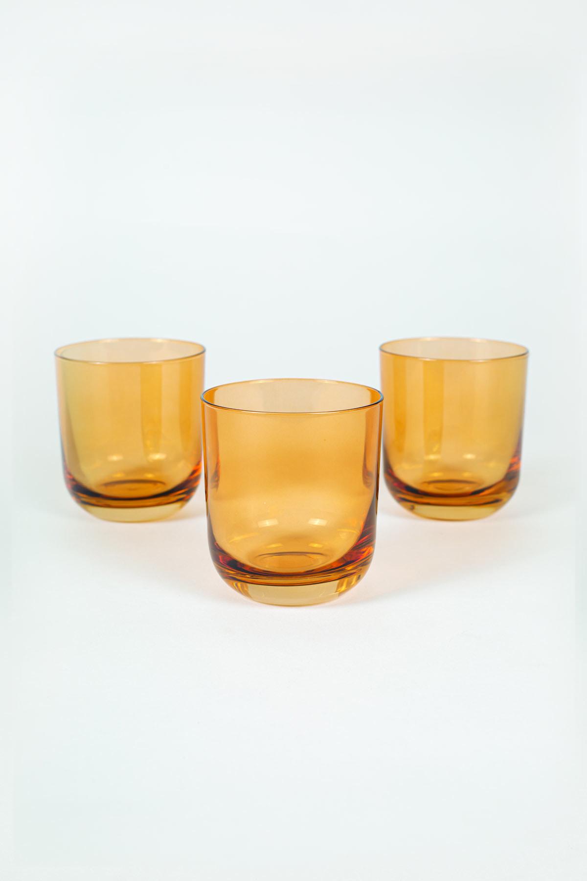 Rakle Intense 3'lü Su Bardağı Seti Amber 300 cc 1
