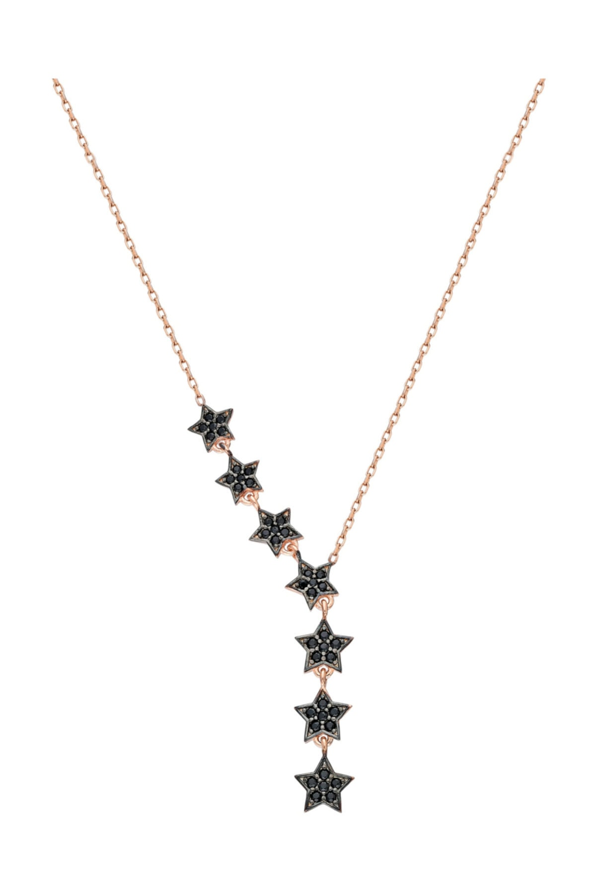 Chavin Kadın Pembe Kayan Yıldızlar Gümüş Kolye Küpe Seti Ef09rs 2