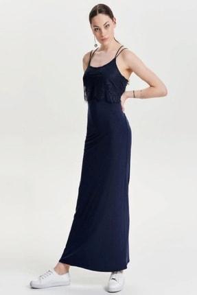 Only Kadın Siyah Günlük Dantel Detaylı Askılı Uzun Elbise 15136311