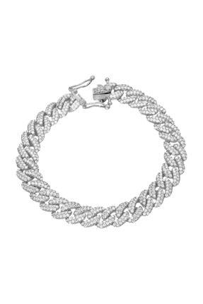 Chavin Kadın Beyaz Altın Modeli Mikron Kaplama Gümüş Bileklik ea76by