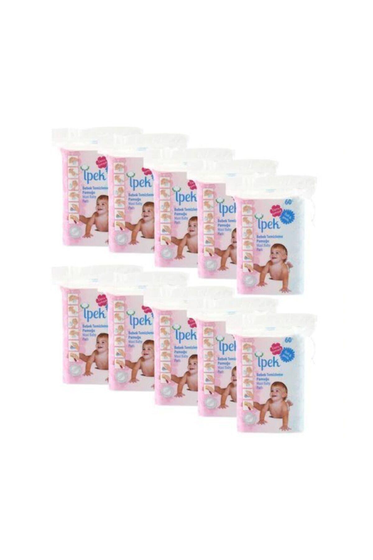 İpek Bebek Temizleme Pamuğu 60'lı 30 Paket 1