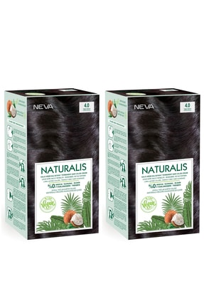 NEVA KOZMETİK Naturalis Saç Boyası 4.0 Yoğun Kahve %100 Vegan 2'li Set