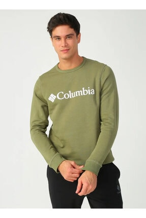 Columbia Cs0091 M Columbıa Logo Sweatshırt
