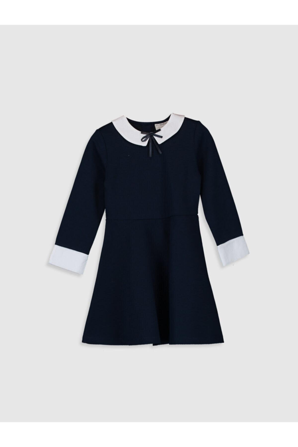 LC Waikiki Kız Çocuk Koyu Lacivert Hrc Elbise 1