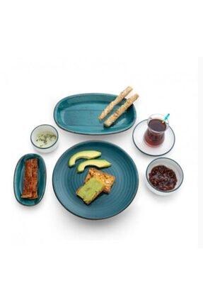 Emsan Tropik Yeşil Beste 32 Parça Porselen 6 Kişilik Kahvaltı Takımı 600.15.01.1257