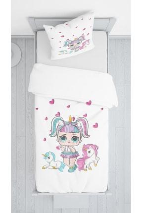 Lolla Unicornlar Kadife Dekoratif Örtü 136