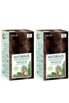 NEVA KOZMETİK Naturalis Saç Boyası 6.0 Yoğun Koyu Kumral %100 Vegan 2'li Set