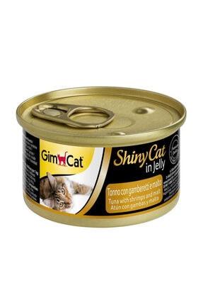 Gimcat Shinycat 24 Adet Tuna Karides Malt Konserve Kedi Mama 70 gr Arda039