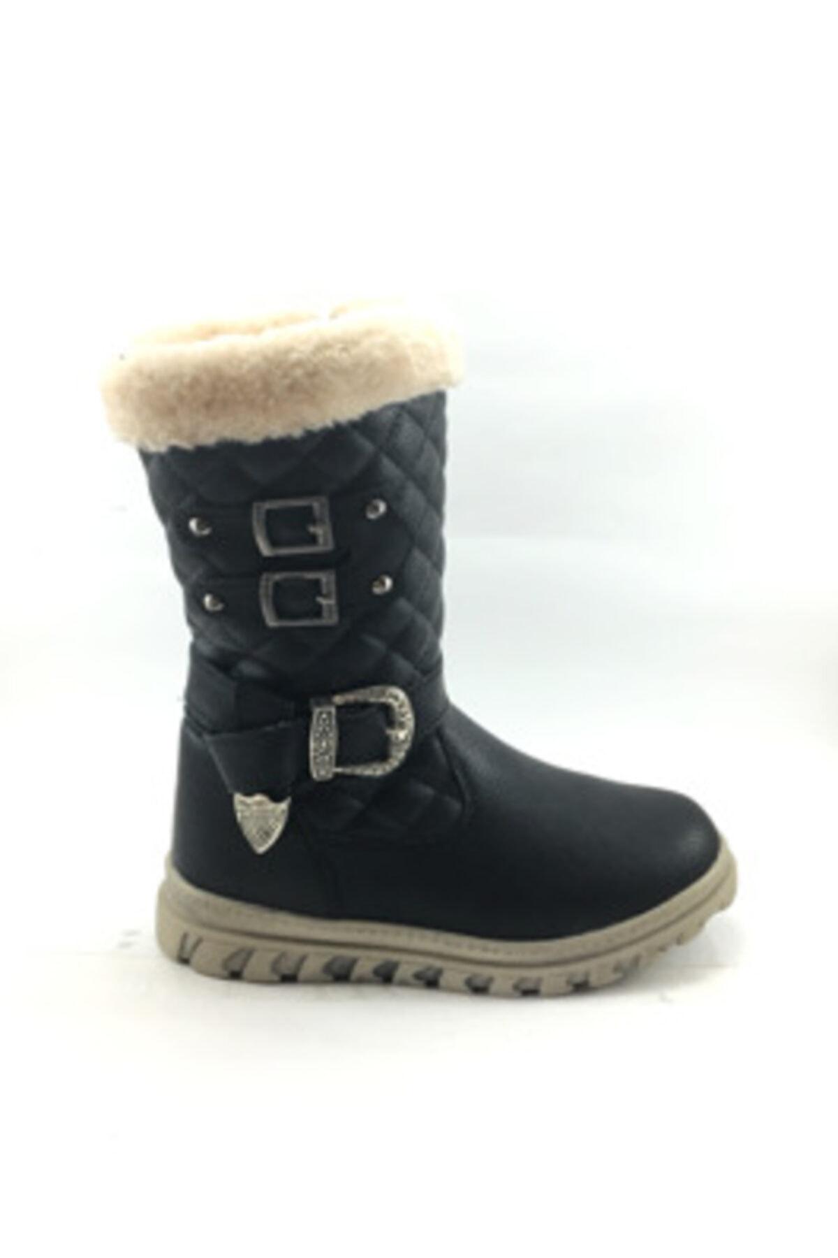 Twingo Kız Çocuk Içi Kürklü Siyah Bot Ayakkabı 1