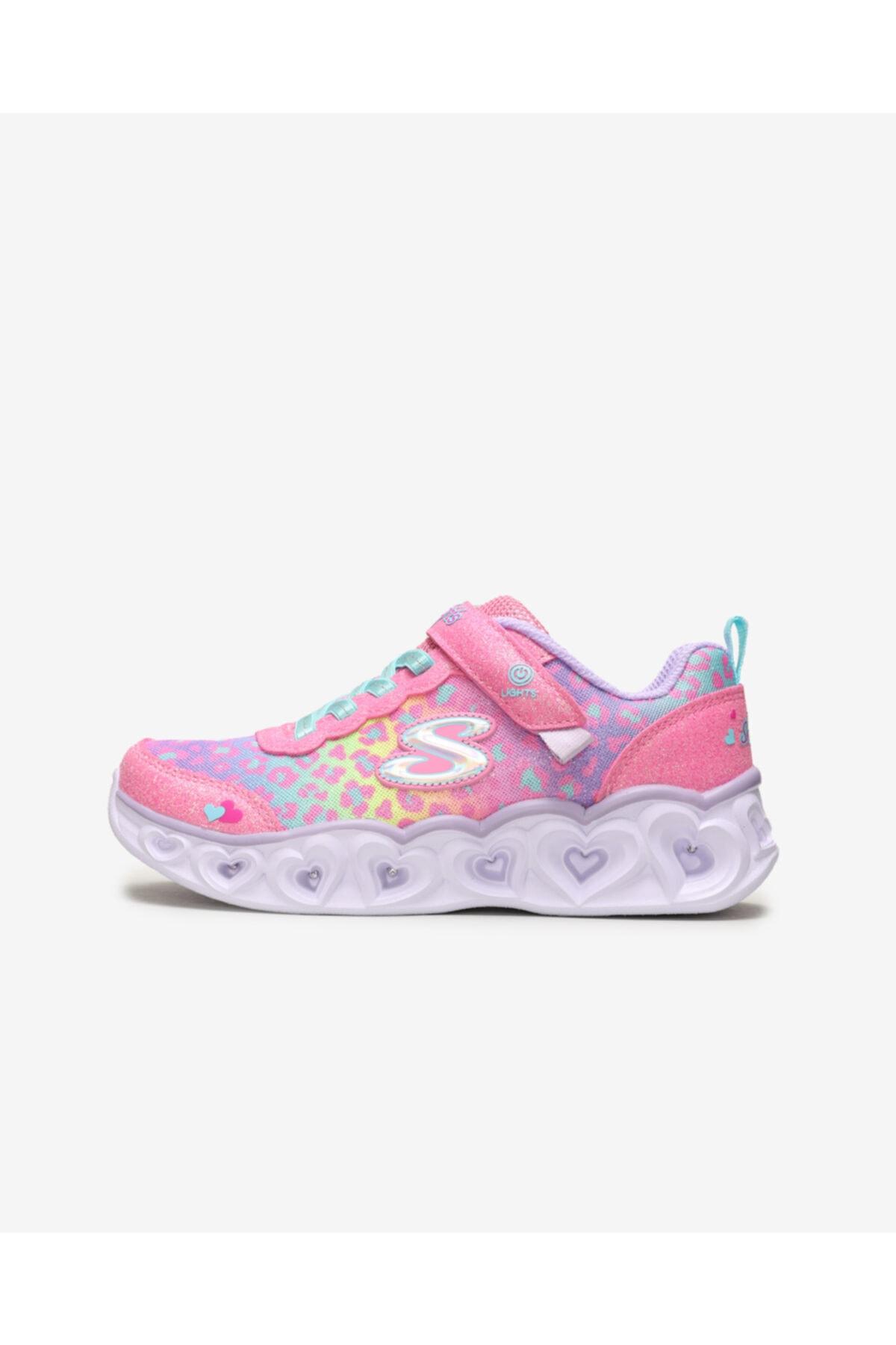 SKECHERS HEART LIGHTS Büyük Kız Çocuk Pembe Spor Ayakkabı 1