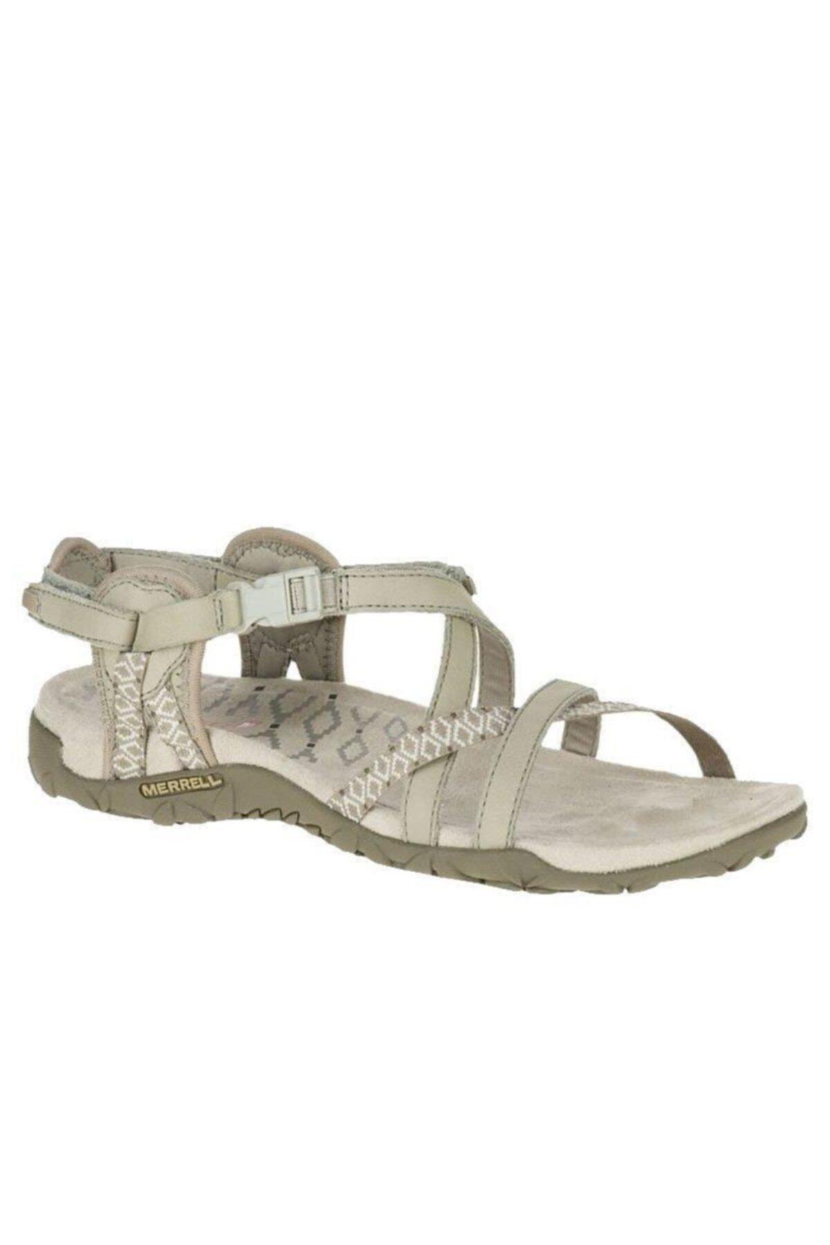 Merrell J02766 Terran Lattice 2 Taupe Taupe Kadın Sandalet 1