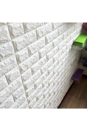 Renkli Duvarlar Kendinden Yapışkanlı Esnek Sünger Beyaz Tuğla Duvar Paneli
