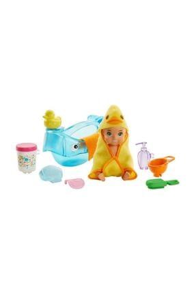 Barbie Bebek Bakıcısı Özellikli Minik Bebekler Ghv83 - Sarışın - Banyo Zamanı Ghv84