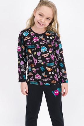ROLY POLY Siyah Kız Çocuk Pijama Takımı