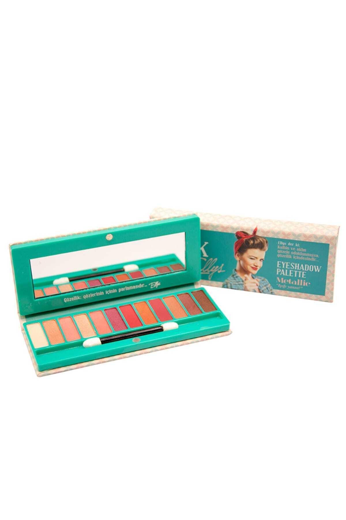 The Pink Ellys Eyeshadow Palette Metallic 12li 1