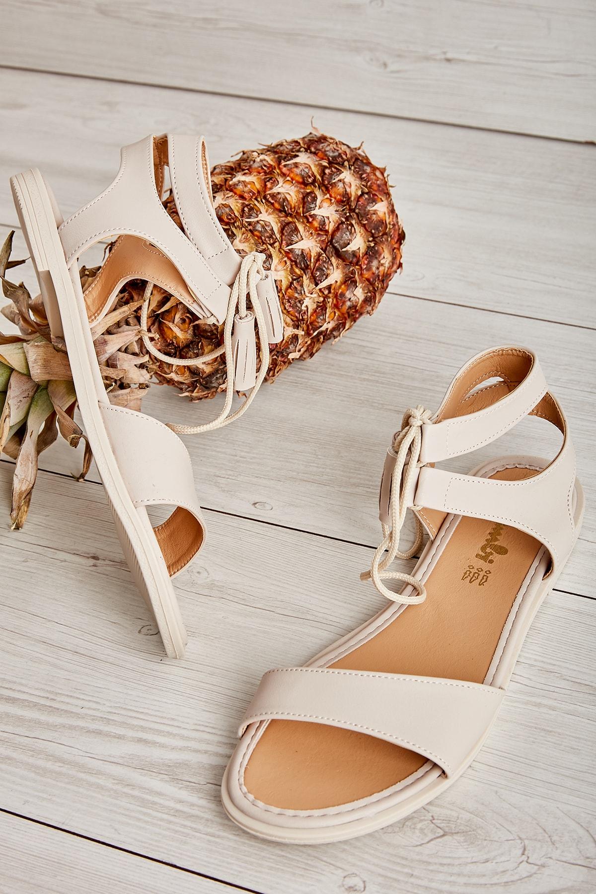 Bambi Bej Kadın Sandalet L0652071009 1