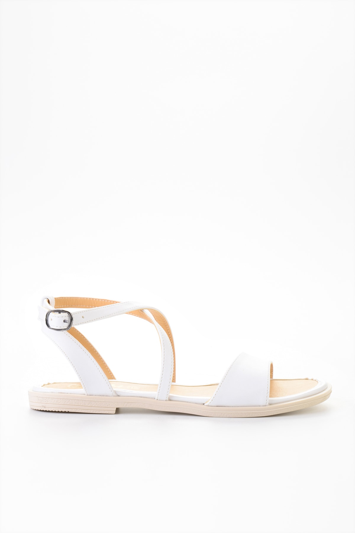 Bambi Beyaz Kadın Sandalet L0652071109 2