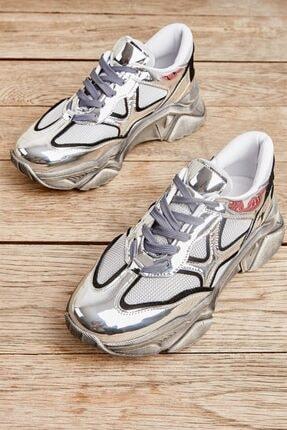 Bambi Gümüş/gri Kadın Sneaker L0512431855