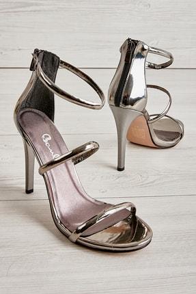 Bambi Gri Kadın Abiye Ayakkabı L0512121439