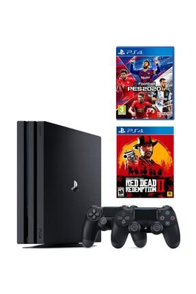 Sony Playstation 4 Pro 1 Tb + 2. Ps4 Kol + Ps4 Pes 2020 + Ps4 Red Dead Redemption 2