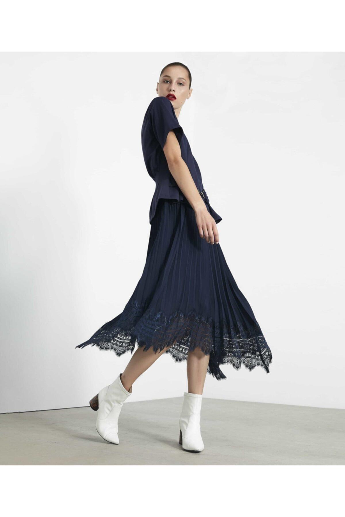 İpekyol Çift Parça Pilise Etekli Elbise 1