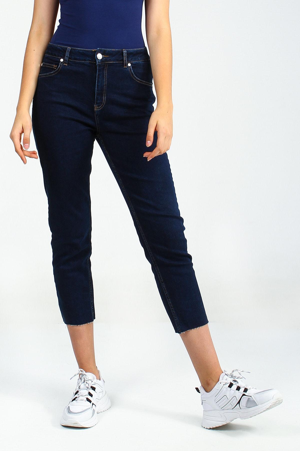 Collezione Koyu Mavi Kadın Denim Pantolon 1