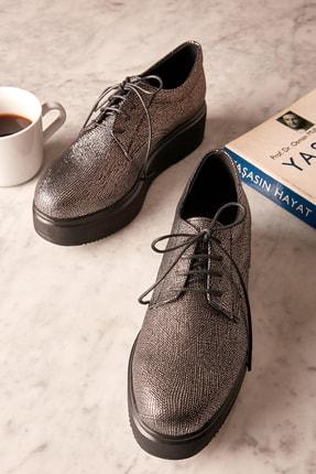Bambi Platin Kadın Oxford Ayakkabı K0749620299