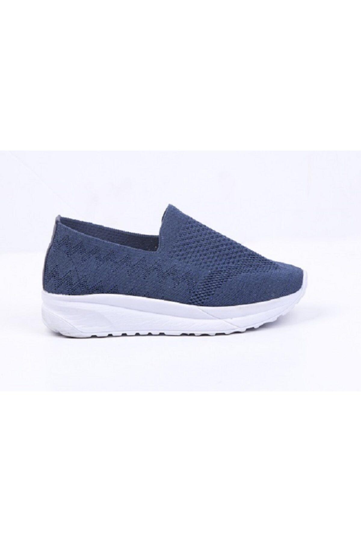 DR SOFT Kadın Lacivert Ortopedik Yürüyüş Ayakkabısı Tekstil 2