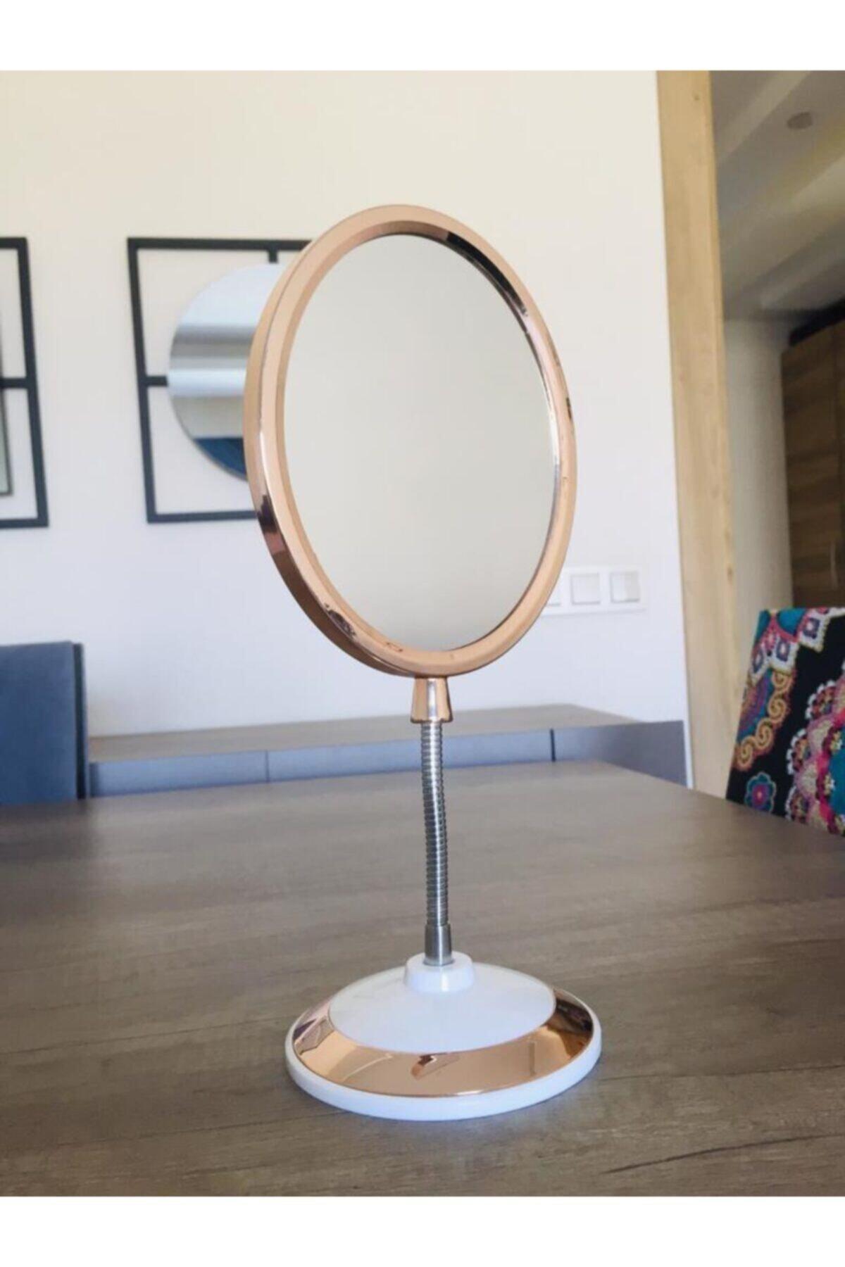 SUME Çift Taraflı 360 Derece Eğilebilir Büyüteçli Makyaj Aynası 2
