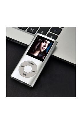 İnter Digital Renkli Ekranlı Mp3-mp4 Çalar Hafıza Kartı Girişli Metal Gri