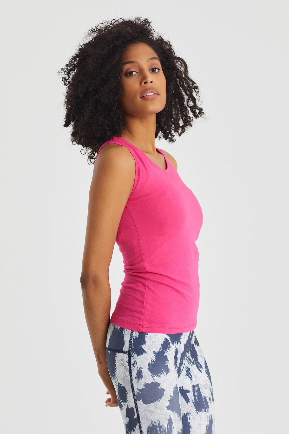 Slazenger Sımon Kadın T-shirt Fuşya 2