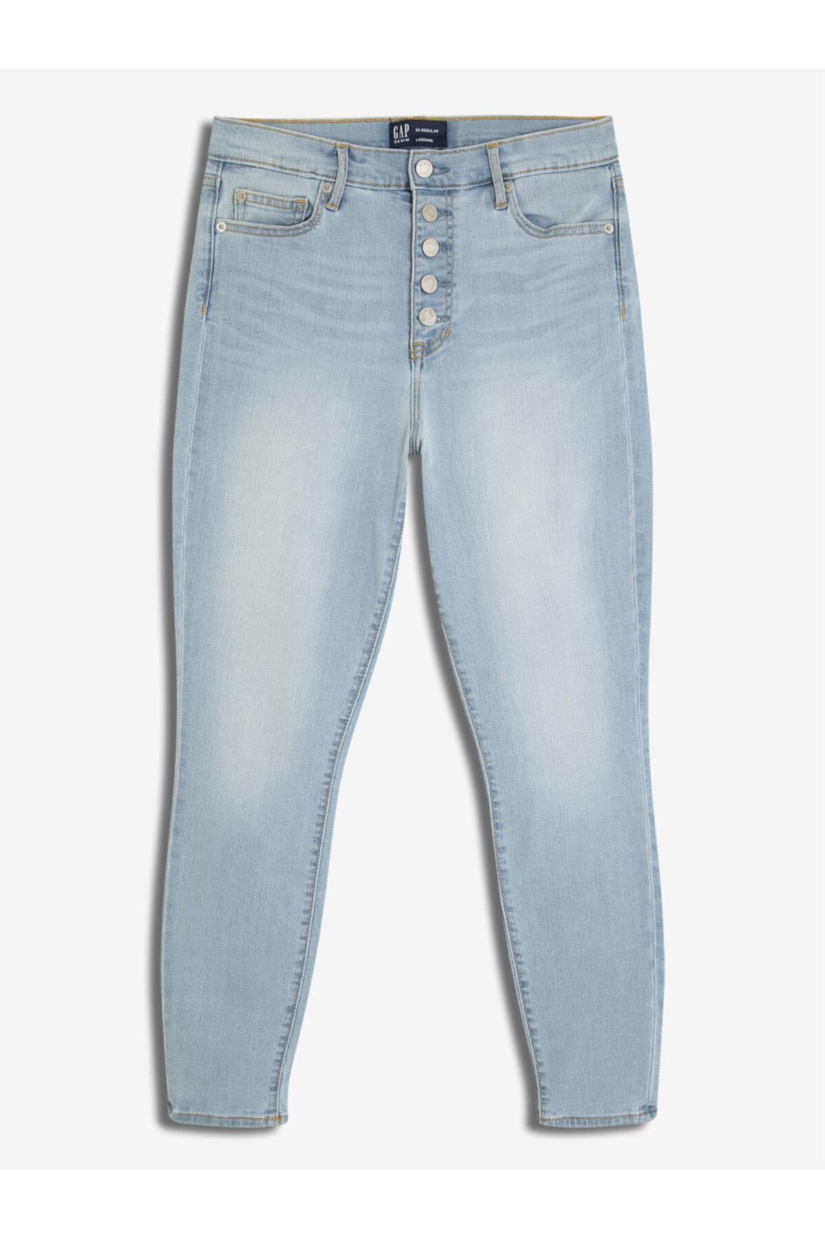 GAP Kadın Düğme Detaylı Jegging Pantolon 1