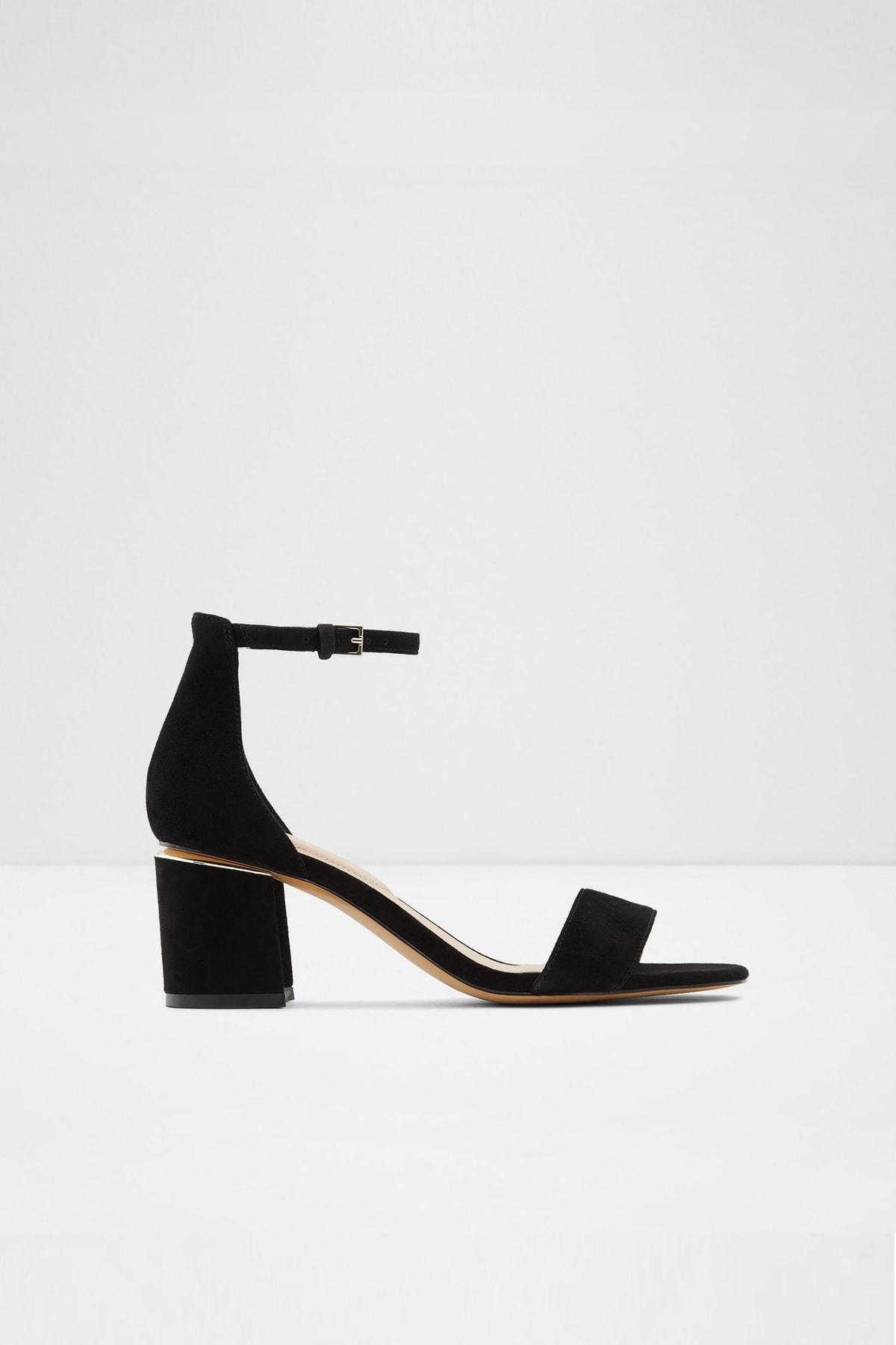 Aldo Valentına - Siyah Orta Topuklu Sandalet 1