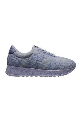 MP Kadın Baskı Desenli Mavi Spor Ayakkabı