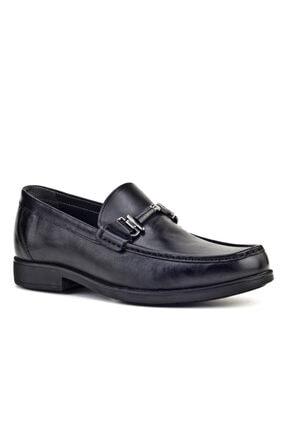 Cabani Tokalı Loafer - Erkek Ayakkabı Siyah Analin Deri