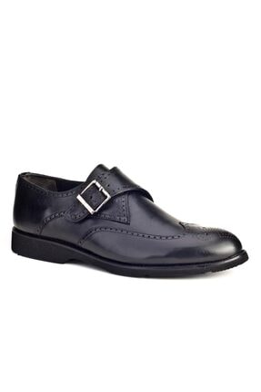 Cabani Tokalı Light Taban Günlük Erkek Ayakkabı Siyah Antik Deri