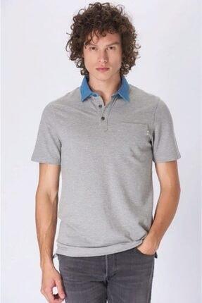 Jack & Jones Jack Jones Premium Erkek Gri Renk Polo Yaka Tişört 12152181